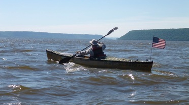 Dale Sanders crossing Lake Pepin