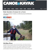 Dale Sanders Cruises for a Cure for T1D - Canoe & Kayak Magazine